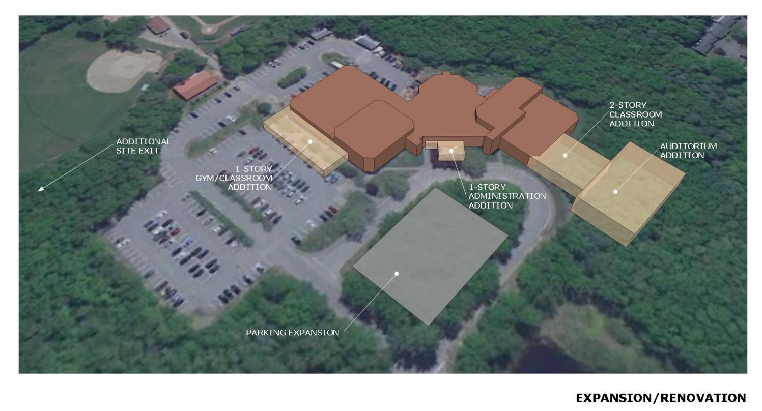Wells High School Study Expansion-Renovation rendering
