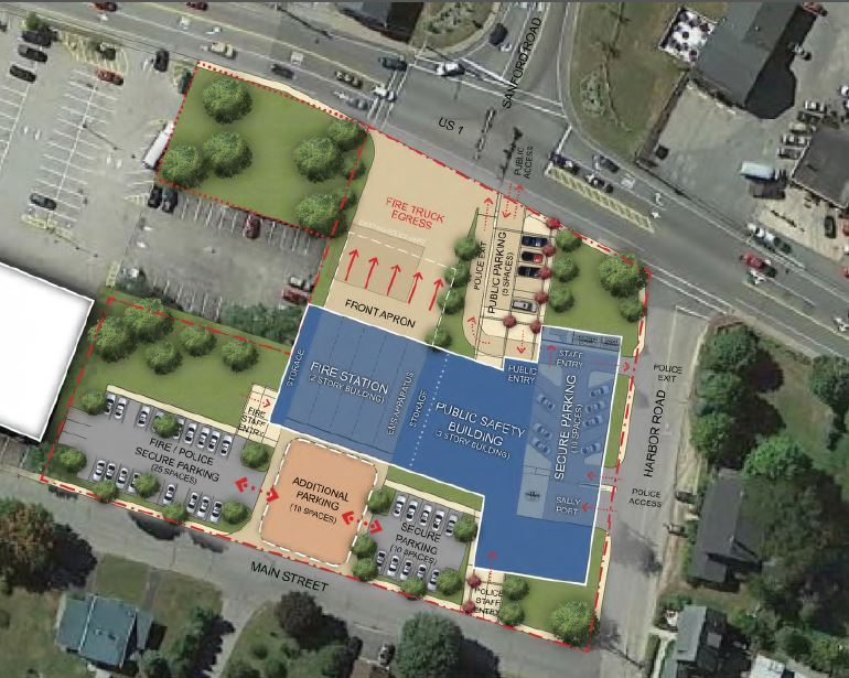 Public Safety Feasiblity DRAFT site layout rendering