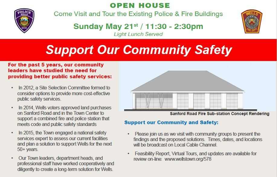 Support our Community Open House May 21st