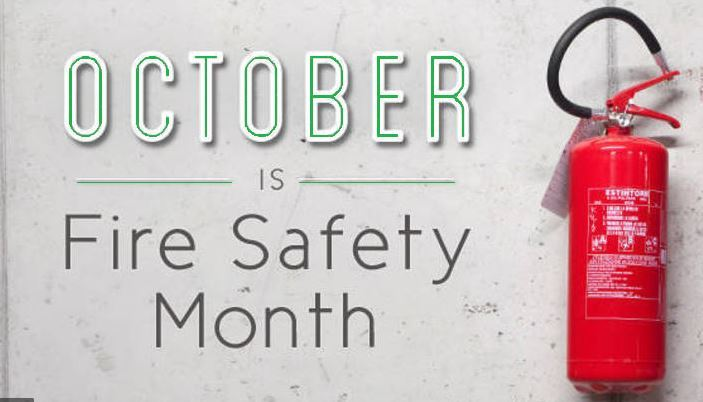 October is Fire Safety Month Image
