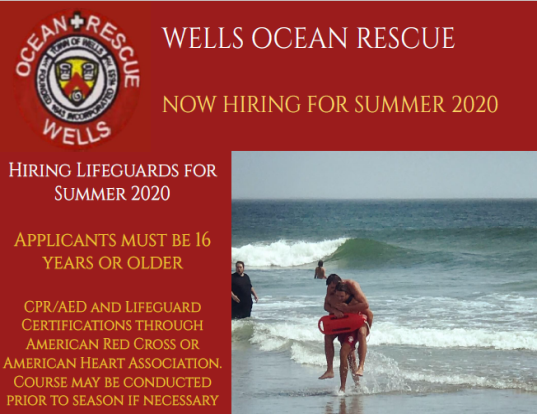 Wells Ocean Rescue Hire Flyer 2020