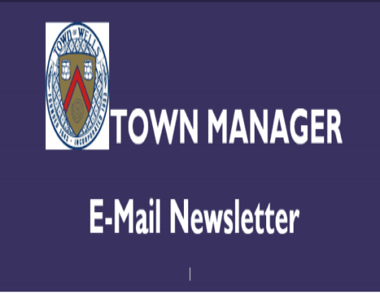 Town Manager Newsletter