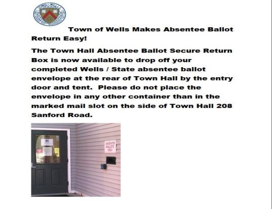 Absentee Ballot drop box image