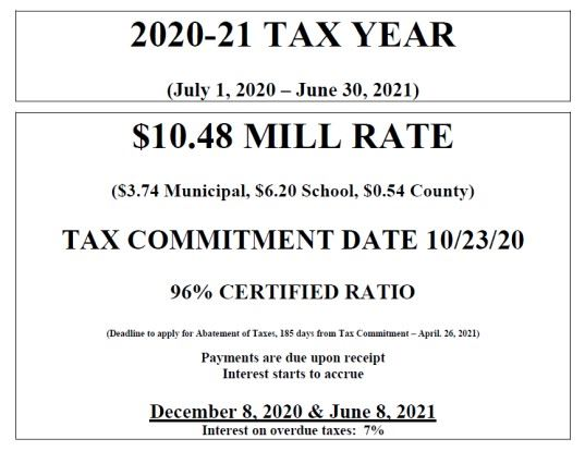 2020 Tax Committment Information