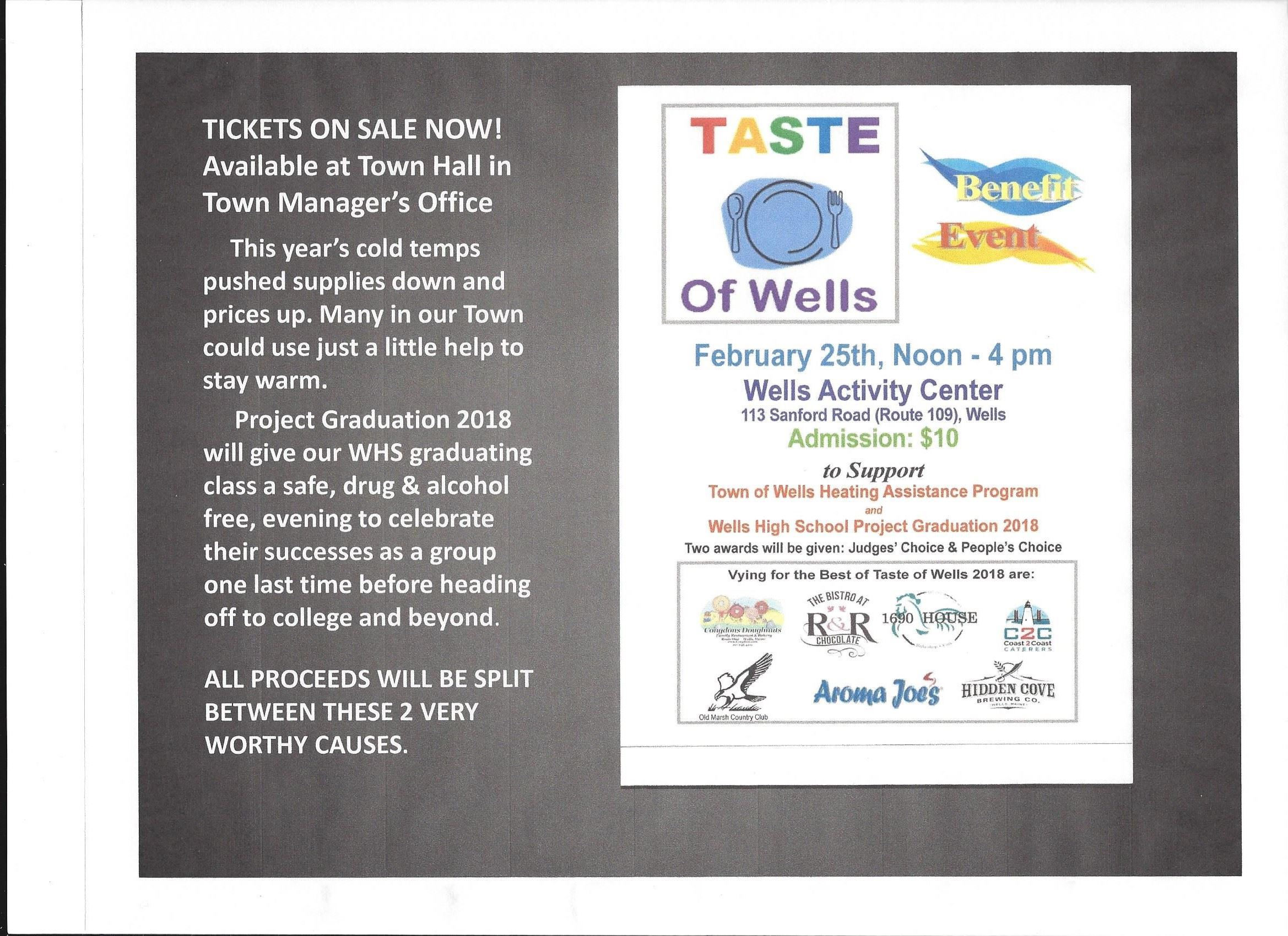 Taste of Wells - Tickets on Sale Now