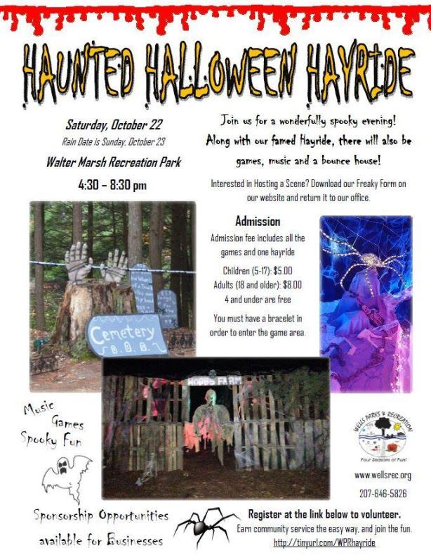 Haunted Hayride Event Flyer 2019