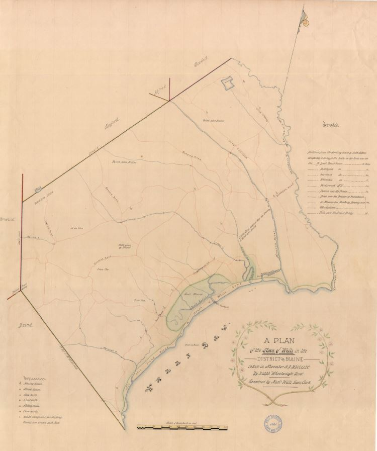 1794 Town of Wells Plan